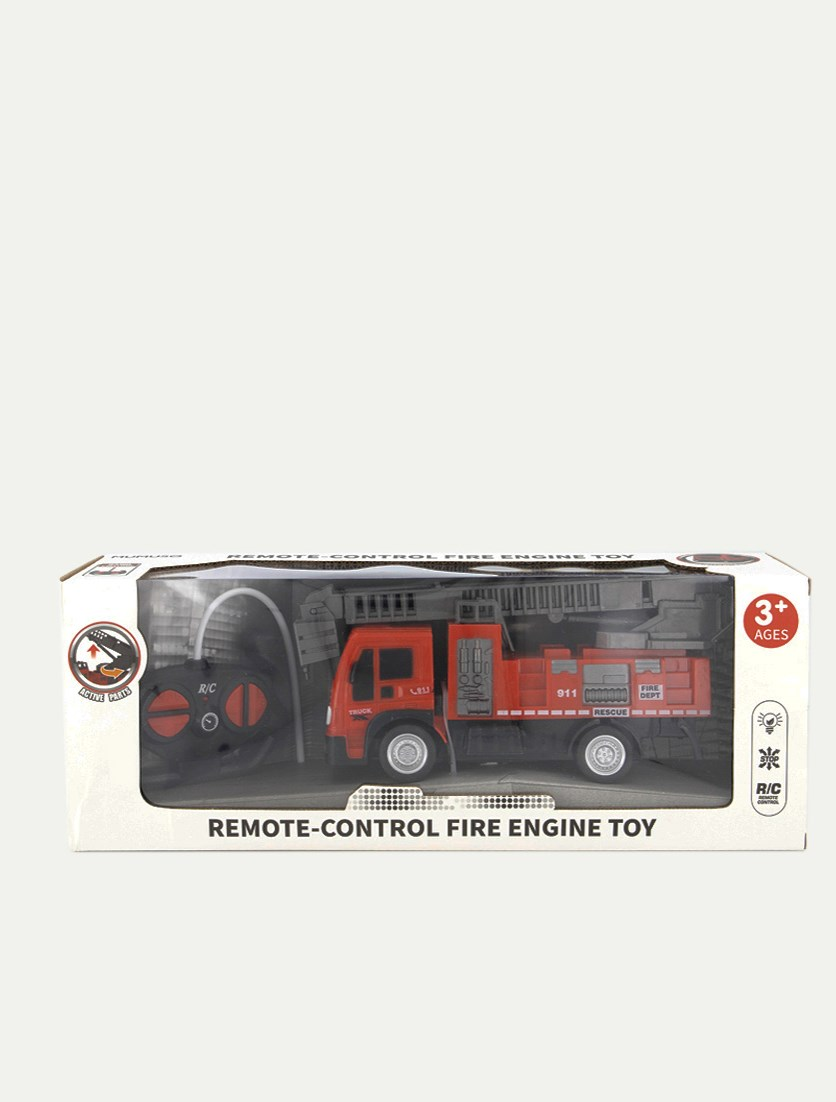 Remote-Control Fire Engine Toy, Red