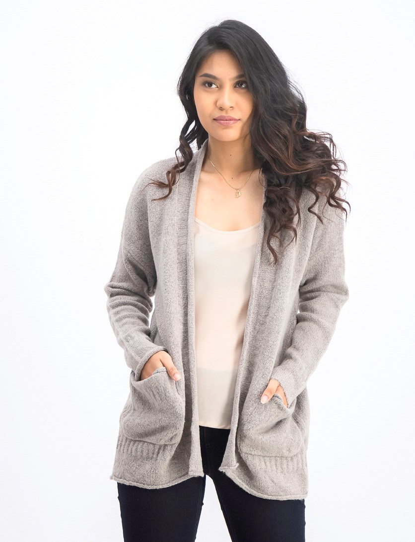 Women's Open Front Cardigan, Grey