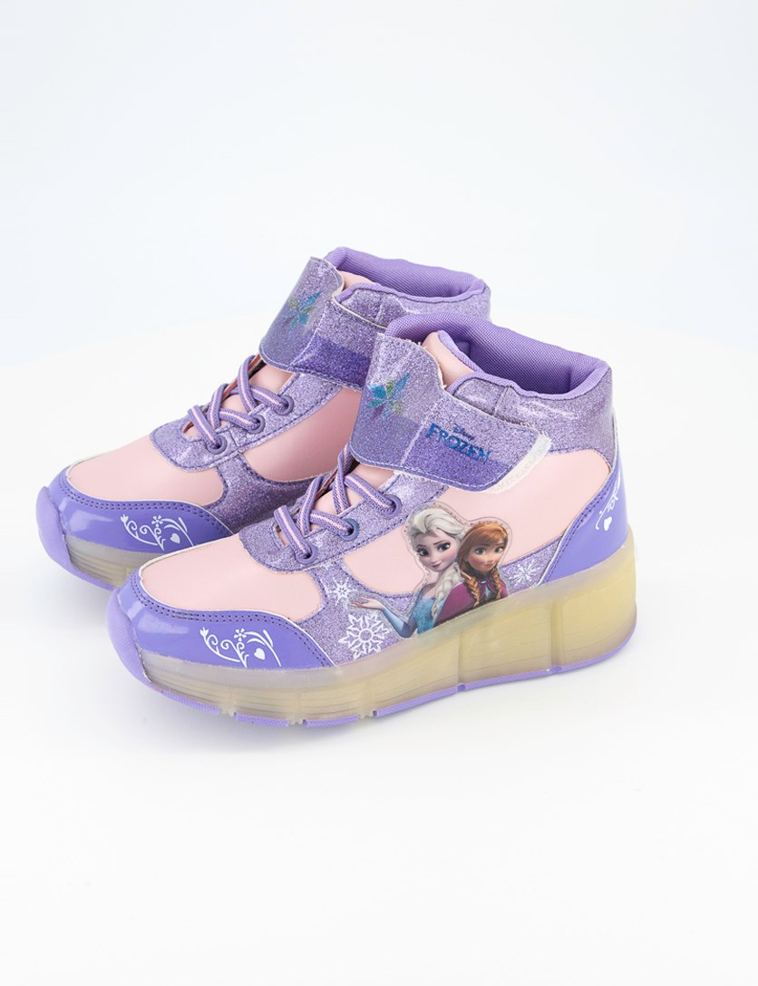 Girl's Light Wheel Shoes, Purple/Pink