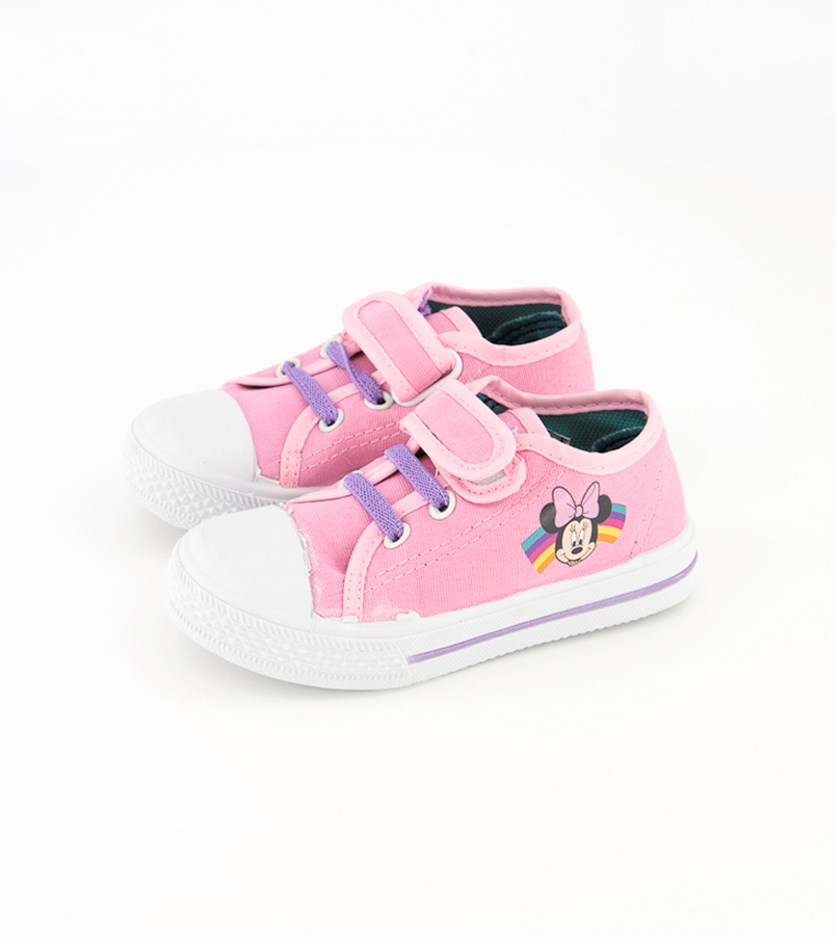Toddler Girls Minnie Mouse Shoes, Pink/White/Purple