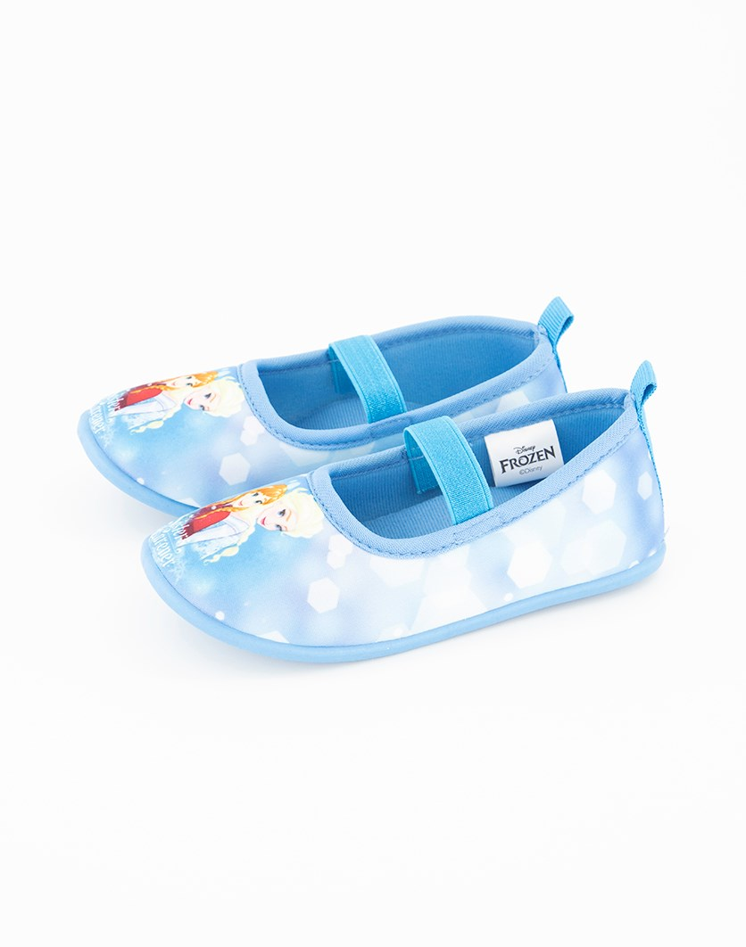 Girls Frozen Slip on Shoes, Blue