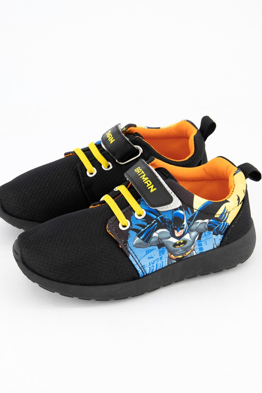 Kids Boys Batman Print Shoes, Black