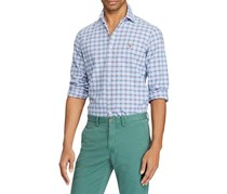 Ralph Lauren Men's Classic-Fit Plaid Shirt, Blue