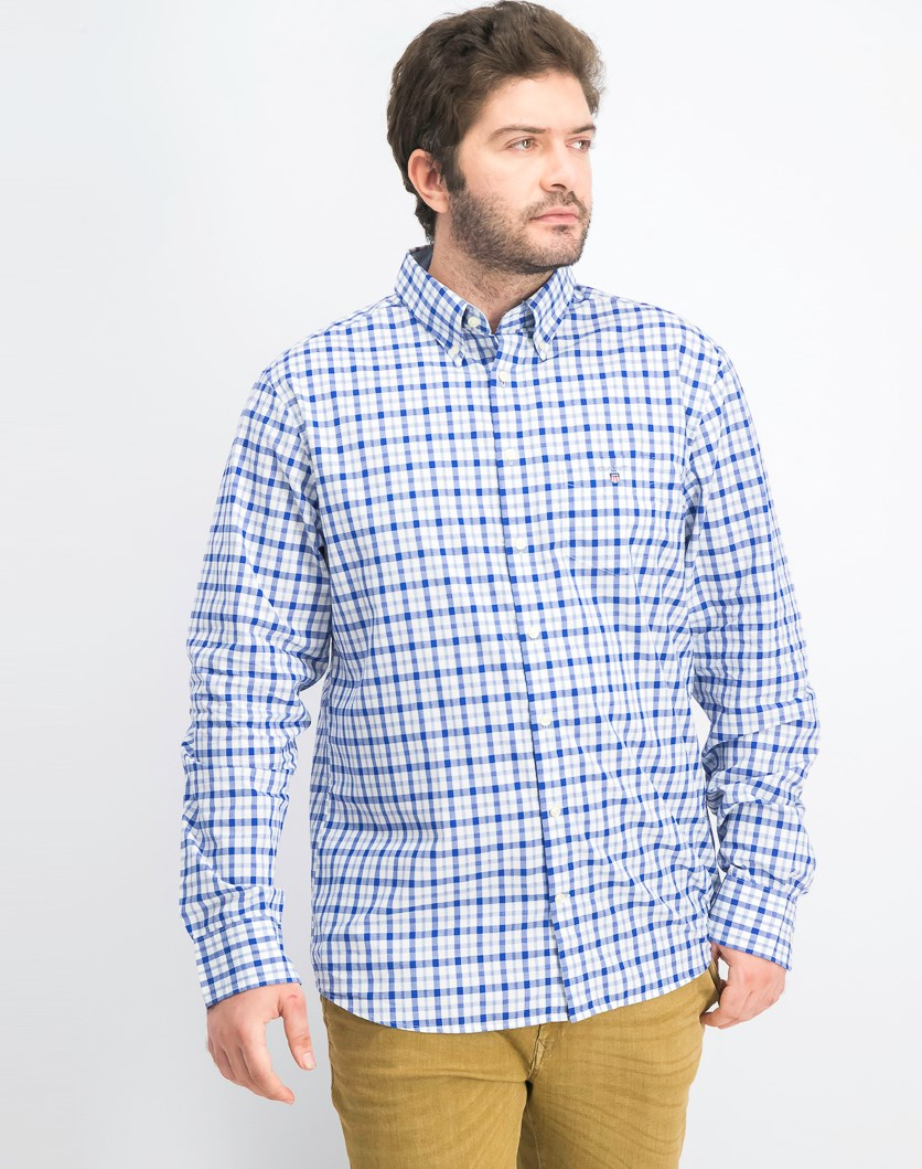 Men's Plaid Shirt, Blue Combo