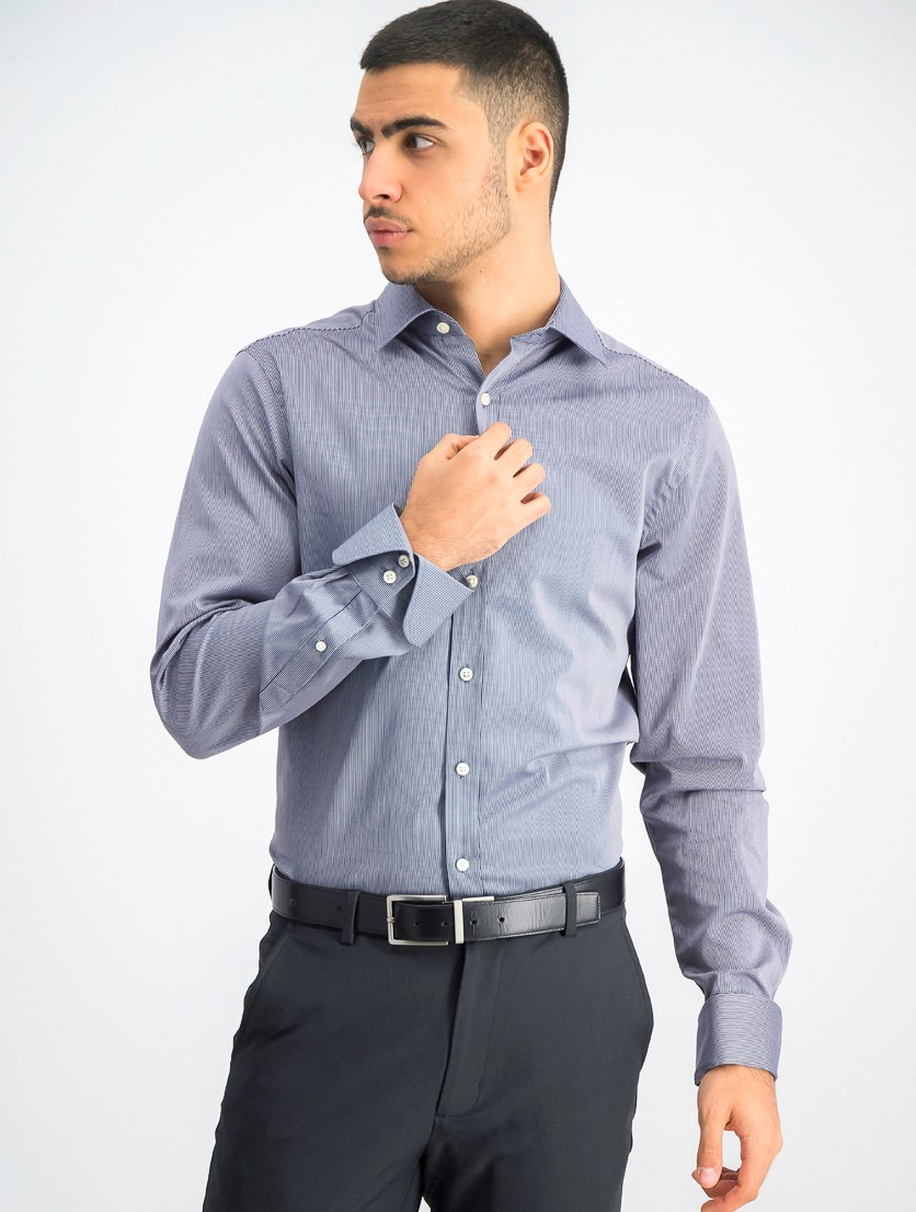 Men's Cocktail Hour Stipe Shirt, Dark Indigo