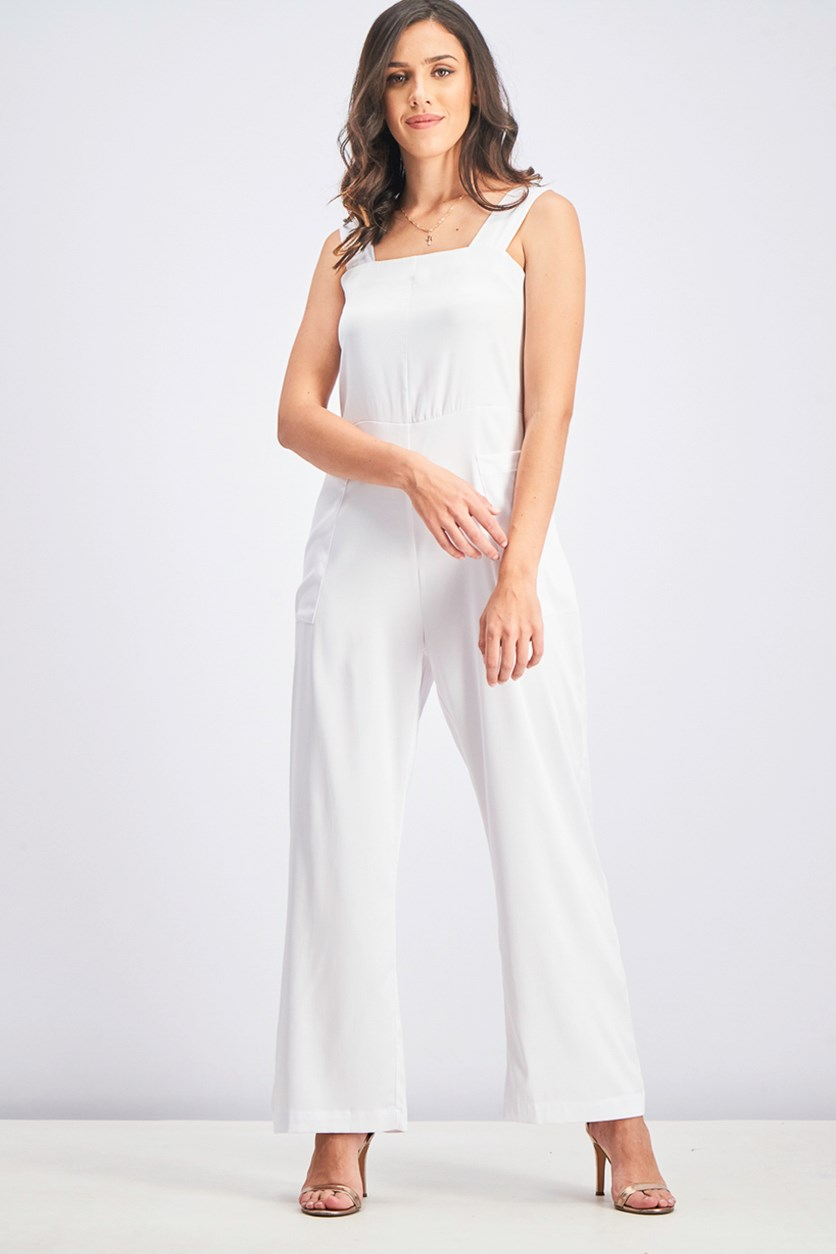 Women's Overall Jumpsuit, White