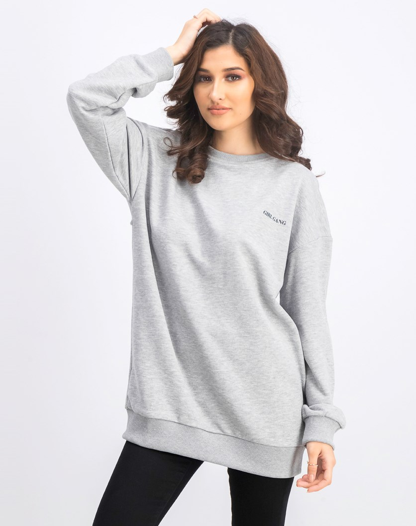 Women's Graphic Sweater, Grey