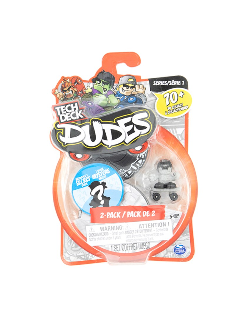 Tech Deck Dudes 2 Pack Collectible Skater Figures with Boards, Black