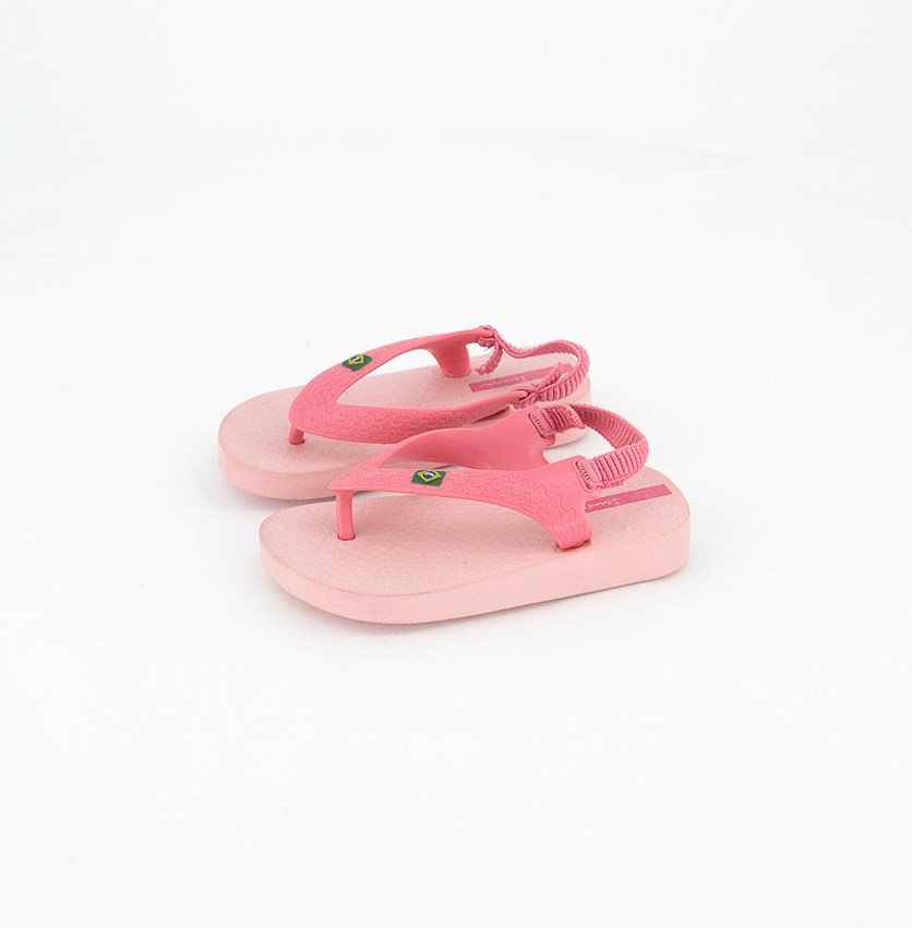 Classic Brazil Baby Slippers, Pink