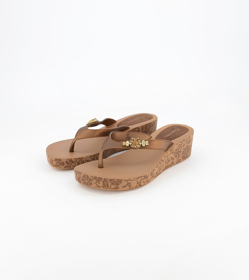 Acai Plat II Fem Wedge, Brown/Bronze