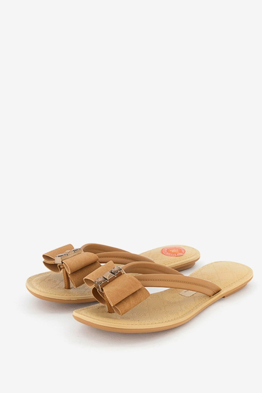 Women's Slip On Sandals, Brown/Mocha