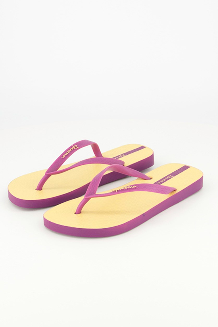 Sundae Sandal, Purple/Yellow