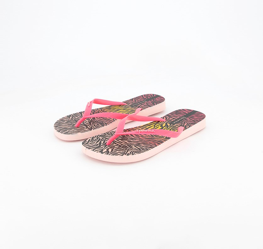 Women's Slip On Slippers, Pink Combo