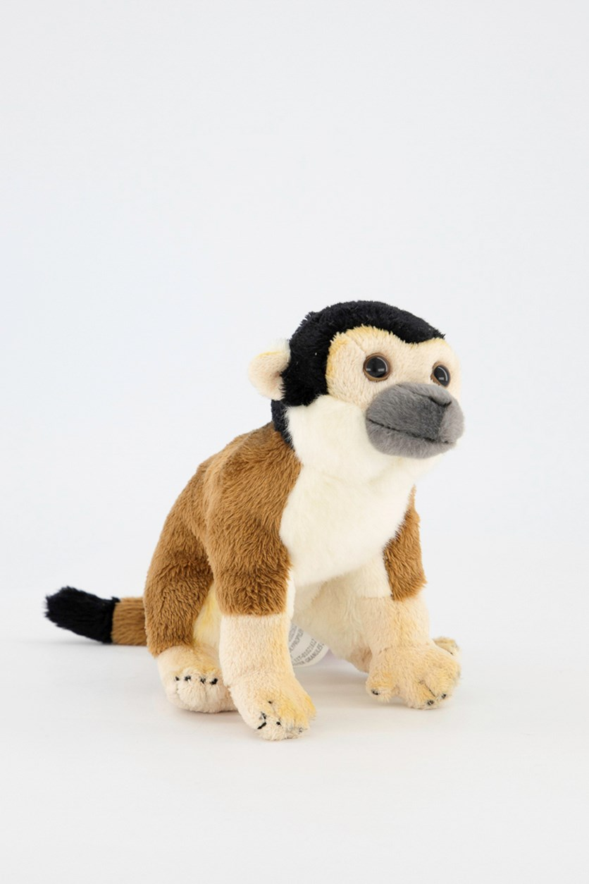 Squirrel Monkey Baby Tropical Rain Forest Plush Toy, Brown Combo