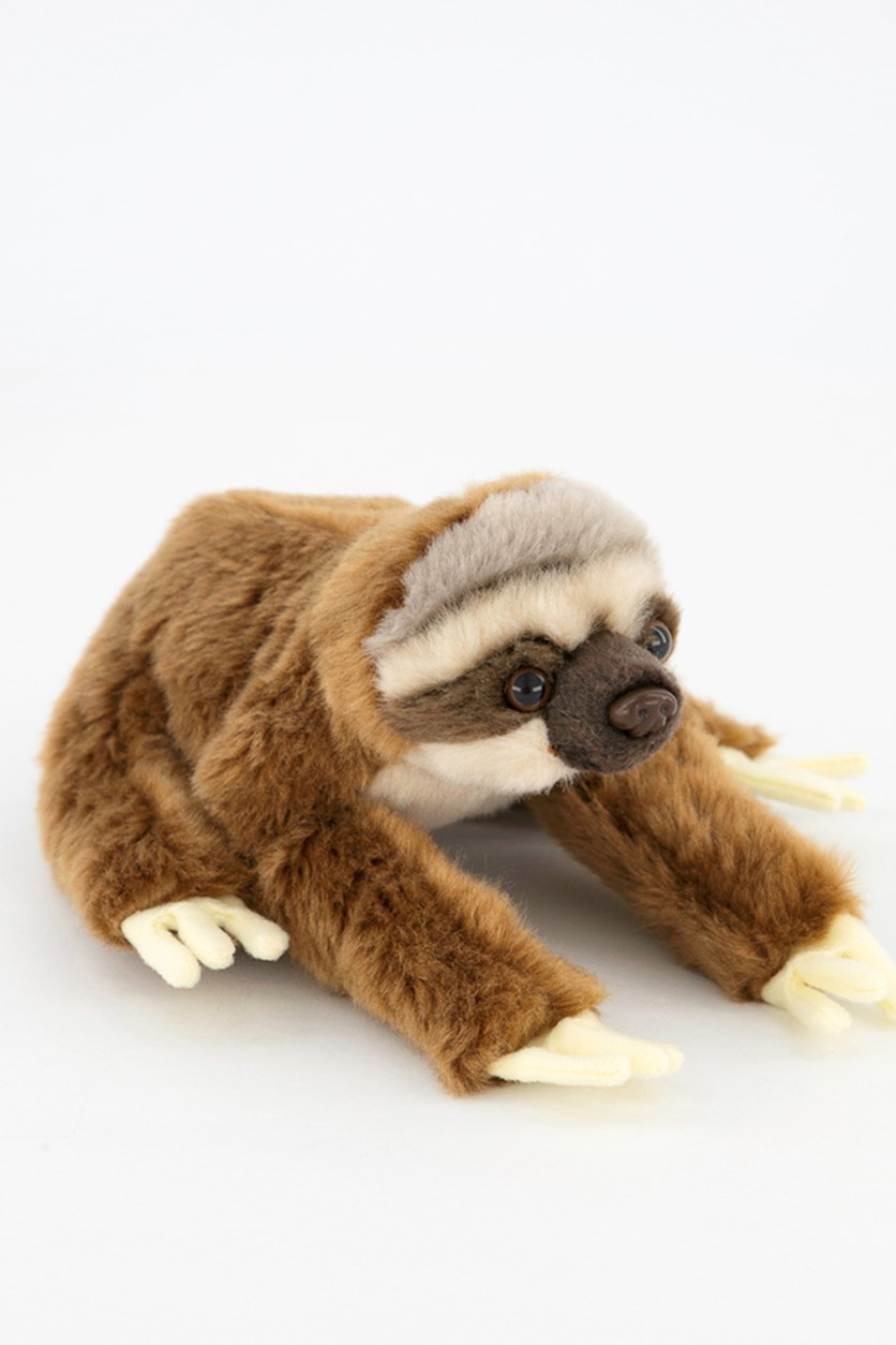 Sloth Baby Tropical Rain Forest Plush Toy, Brown