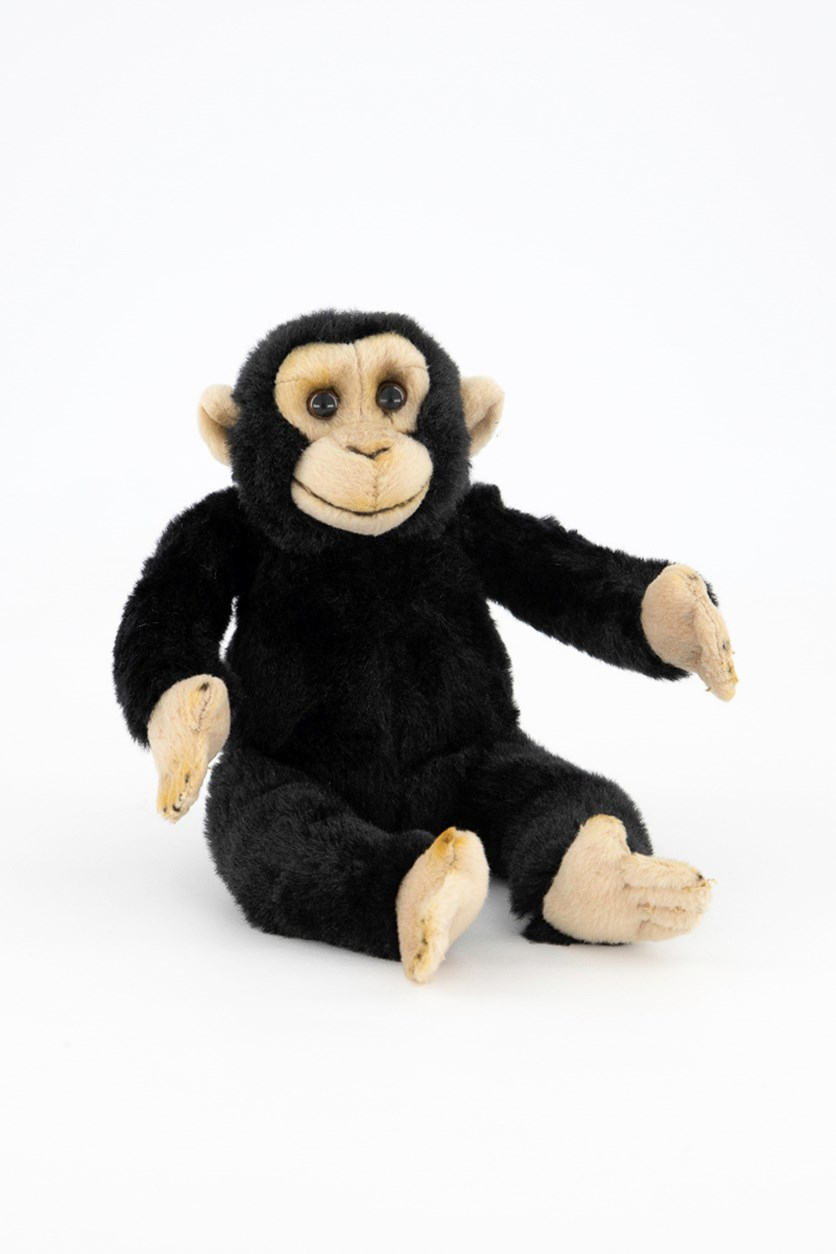 Chimpanzee Baby Tropical Rain Forest Plush Toy, Black