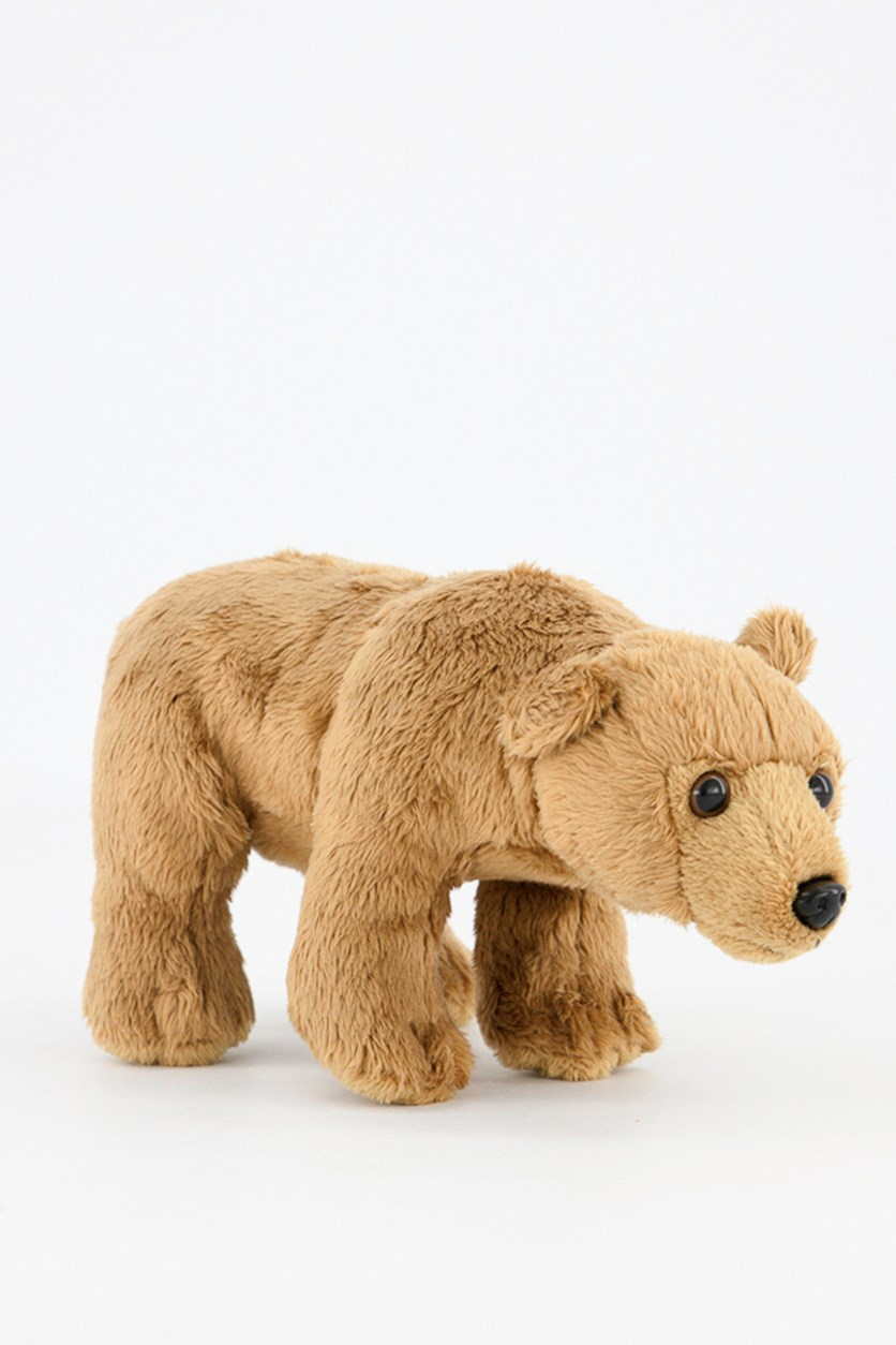 Grizzly Bear North America Plush Toy, Brown