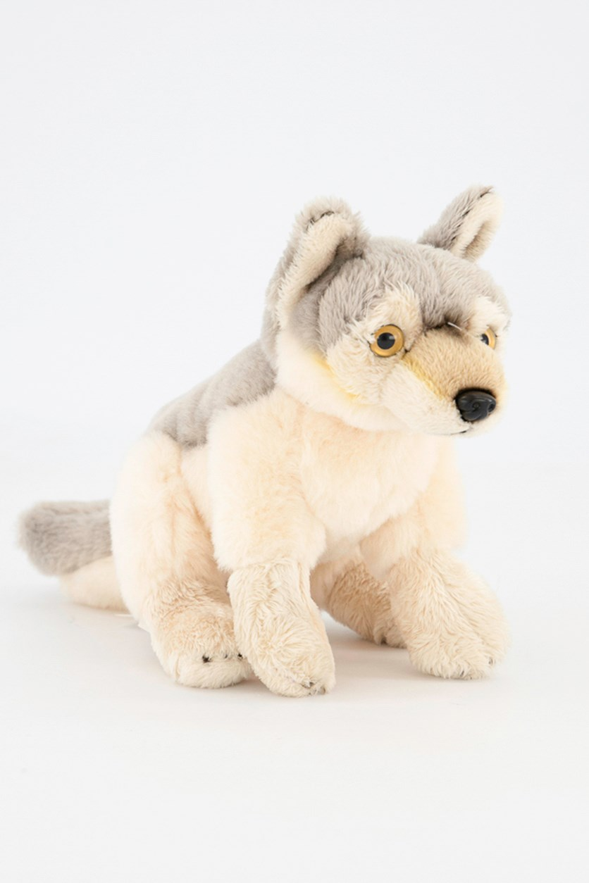 Wolf Baby North America Plush Toy, Grey Combo