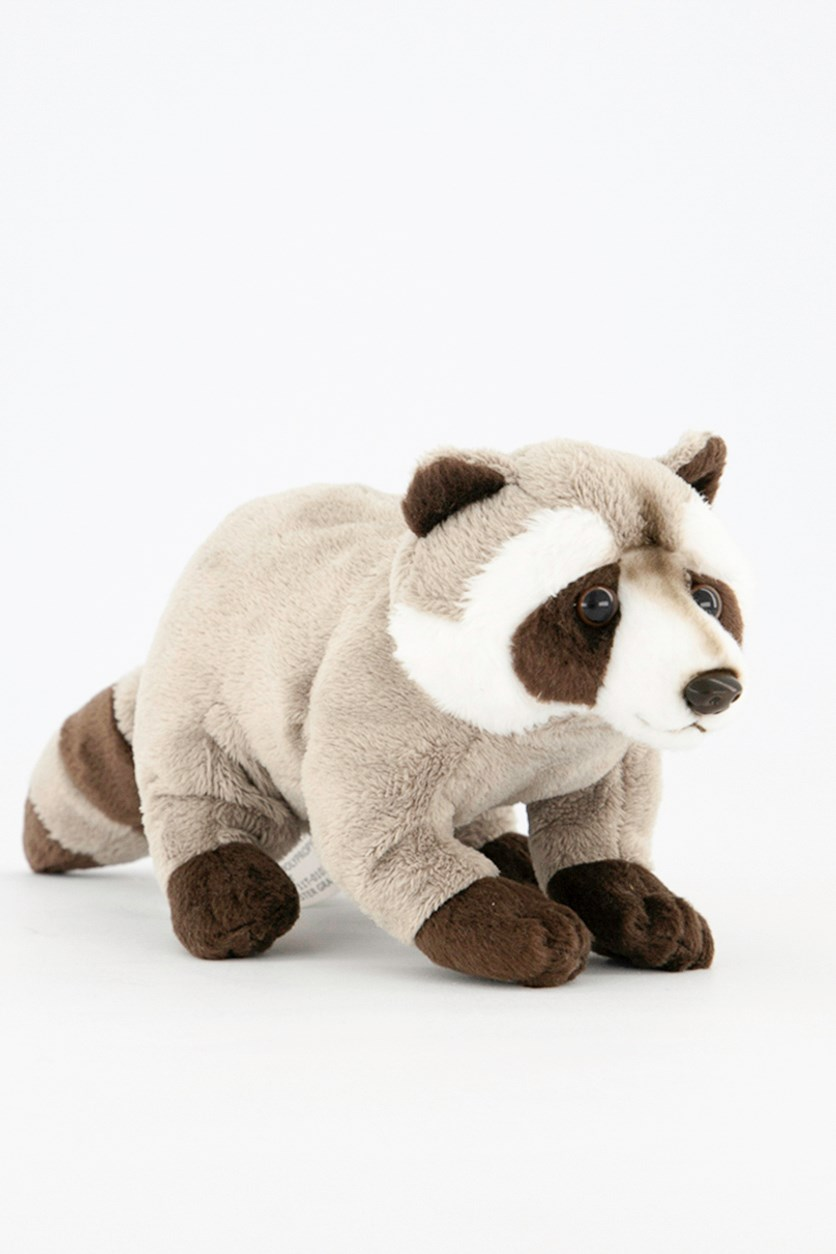 Raccoon Baby North America Plush Toy, Grey