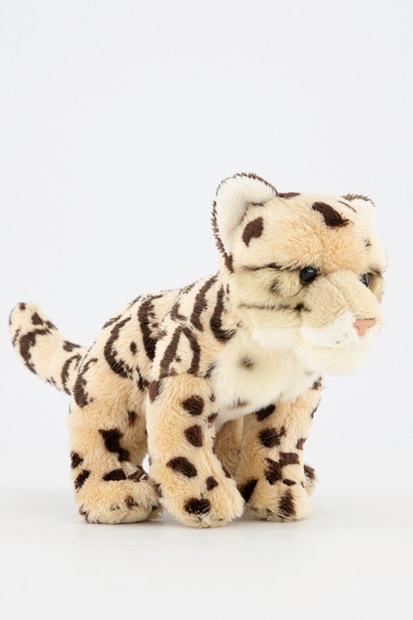 Clouded Leopard Big Cats Plush Toys, Beige Combo
