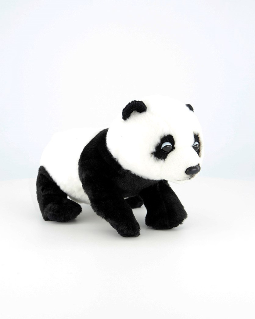 Wild Pups Panda Bear Plush Toys, Black/White