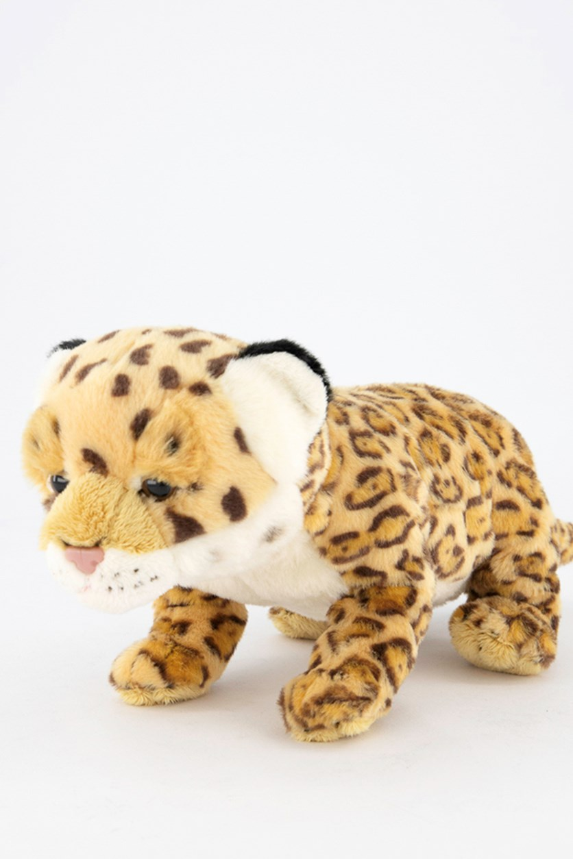 Wild Pups Jaguar Plush Toys, Brown/White/Yellow
