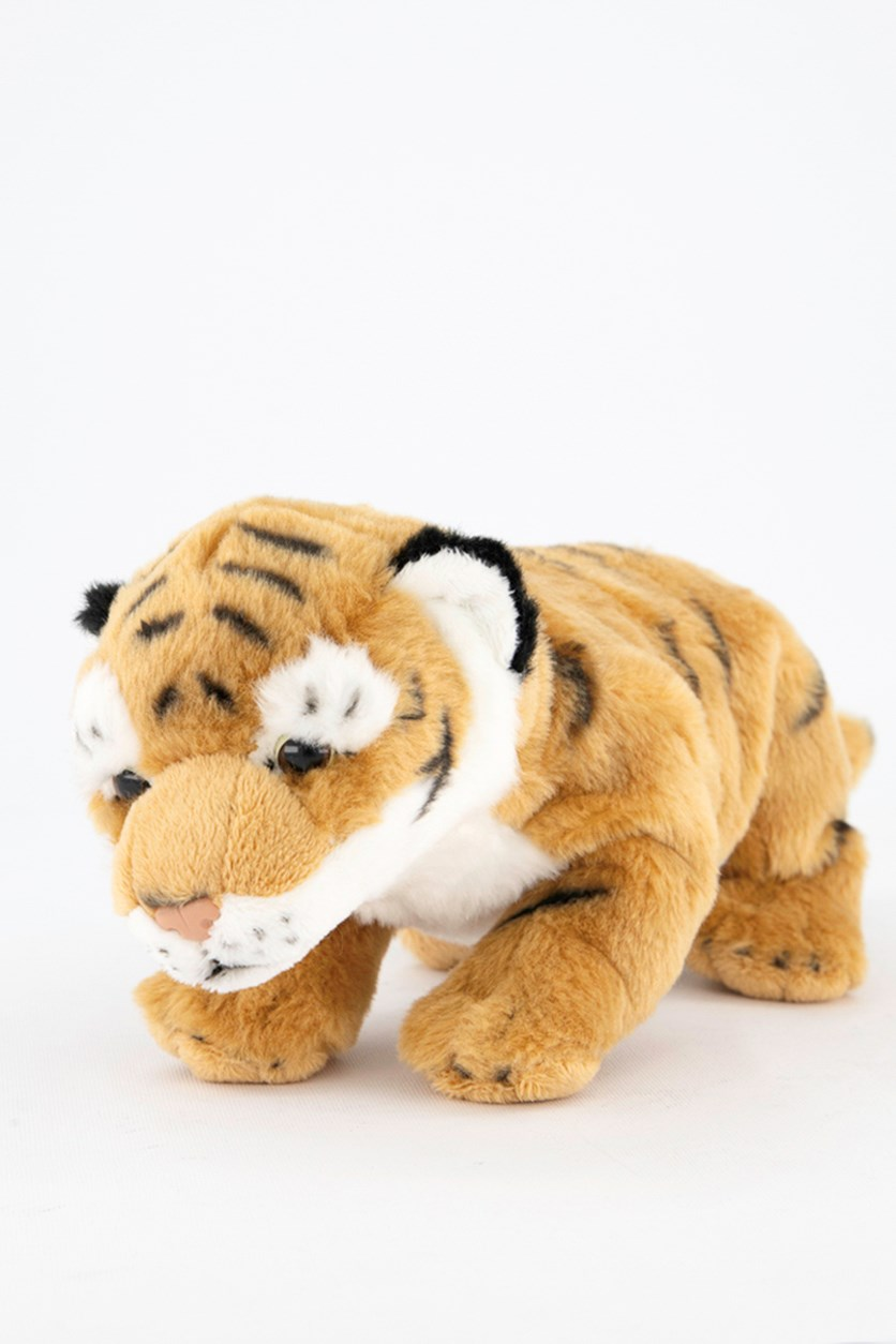 Wild Pups Tiger Plush Toys, Brown/White