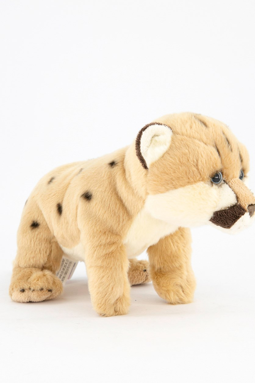 Wild Pups Mountain Lion Plush Toys, Khaki/Brown/White