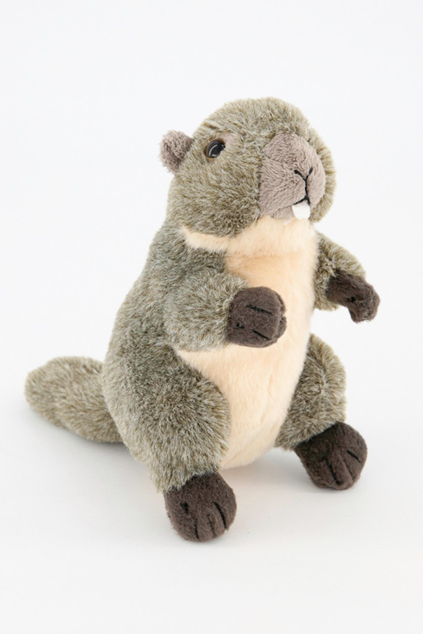 Marmot Baby Europe Plush Toy, Grey