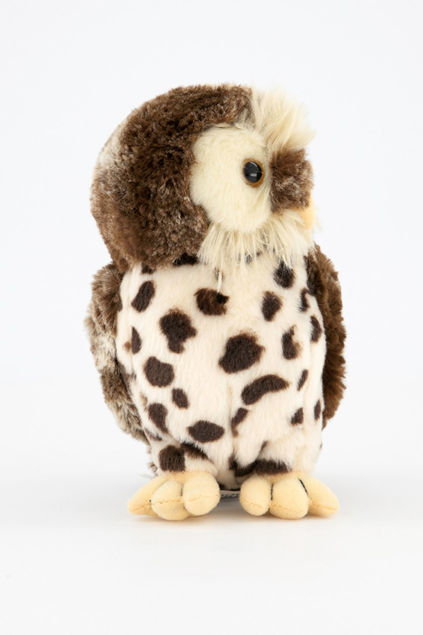 Owl Baby Europe Plush Toy, Brown Combo