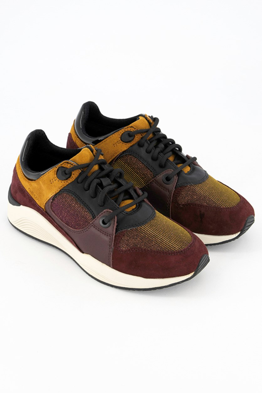Women's Shoes D Omaya Goat Suede, Burgundy