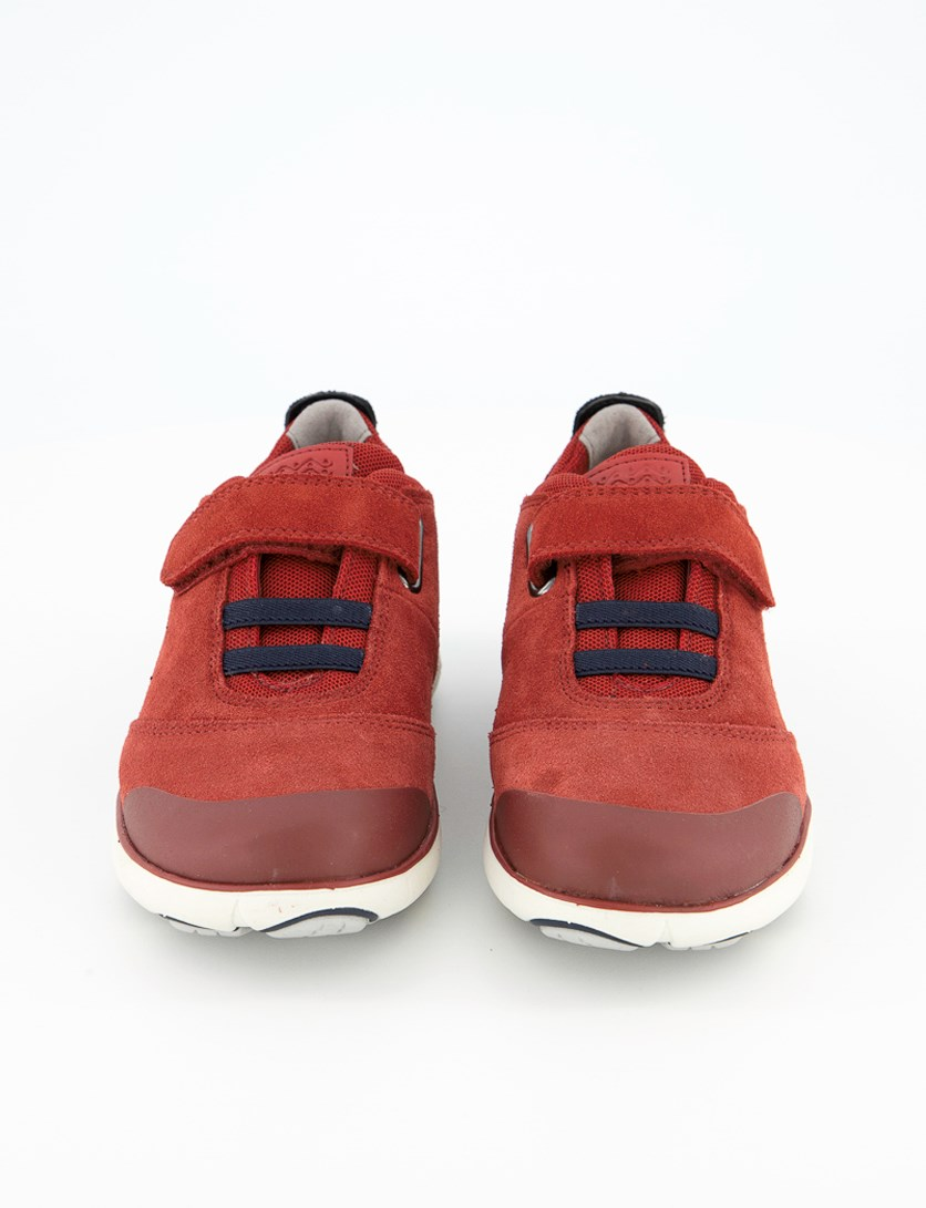 Boys Shoes J Nebula Suede, Red/Navy