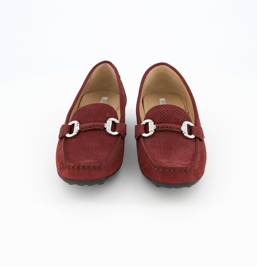 Women's Shoes D Euro Print Suede, Bordeaux