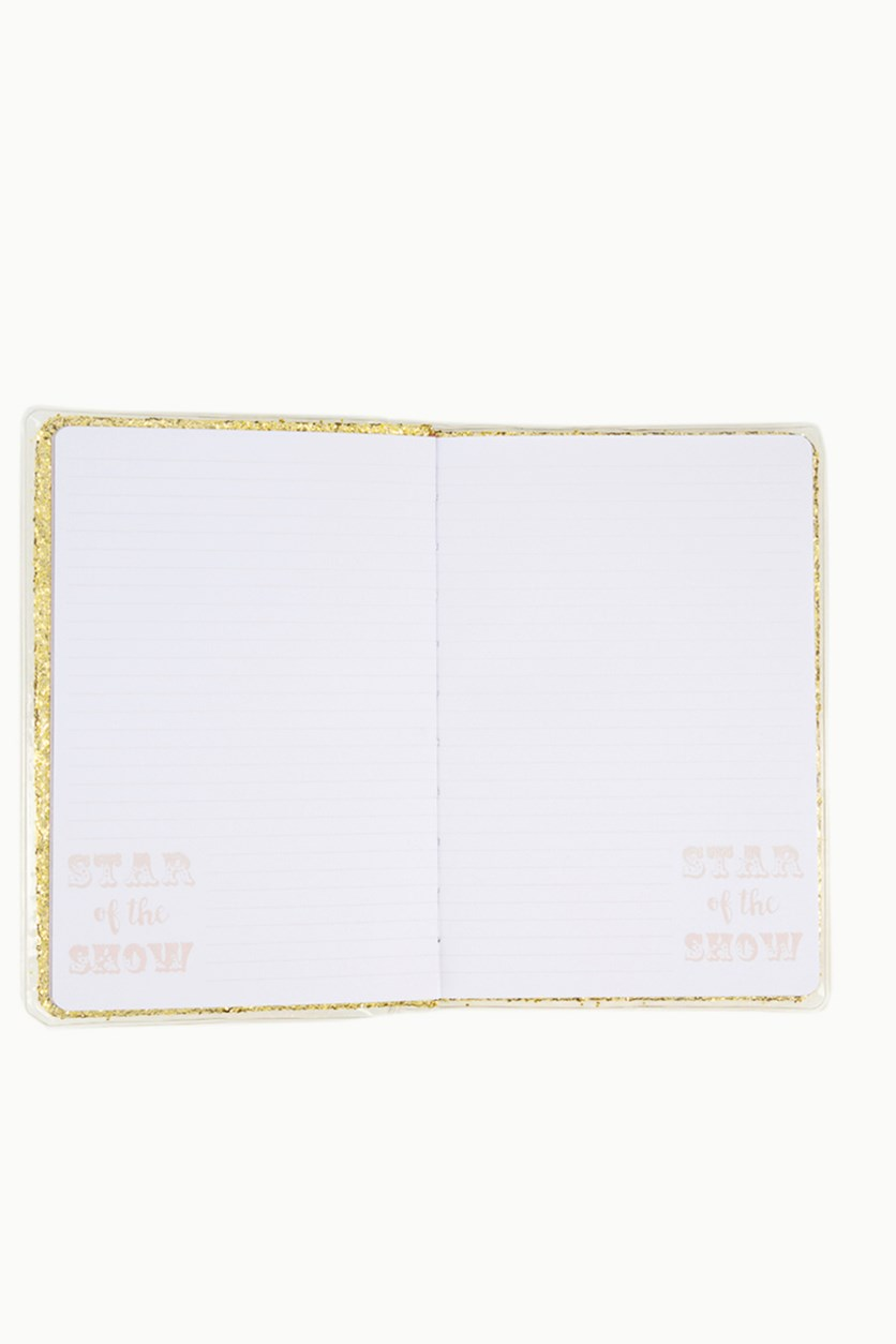 Star Of The Show Daily Planner Notebook, Gold