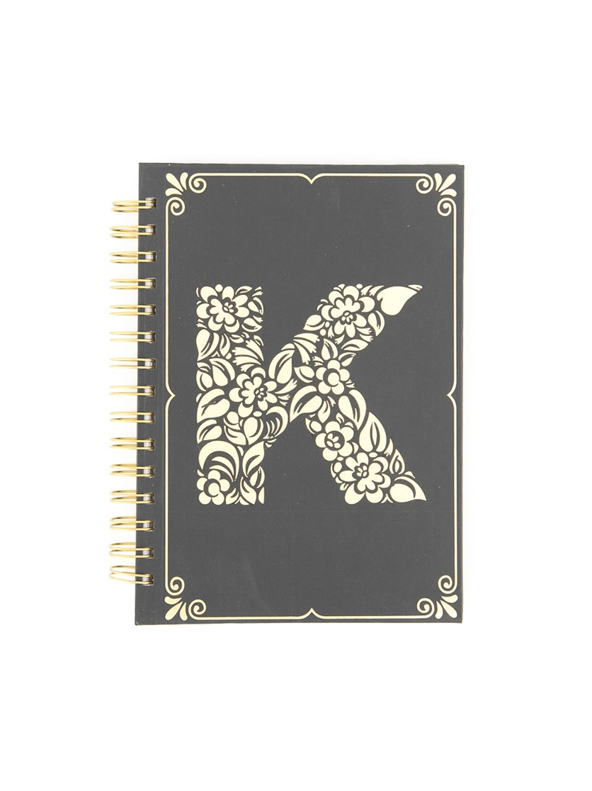 Spring Notebook K, Black/Gold