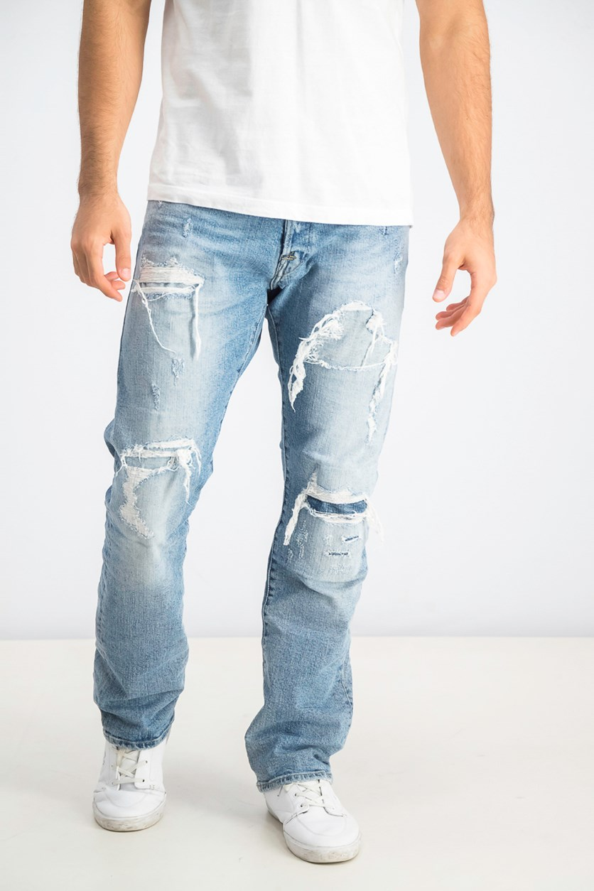 Men's Waitom Ripped Jeans, Blue Washed