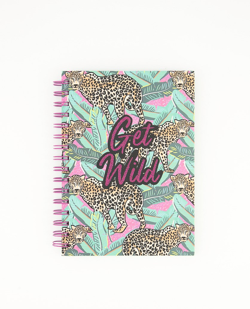 Get Wild Spiral Notebook For Girls, Green Combo