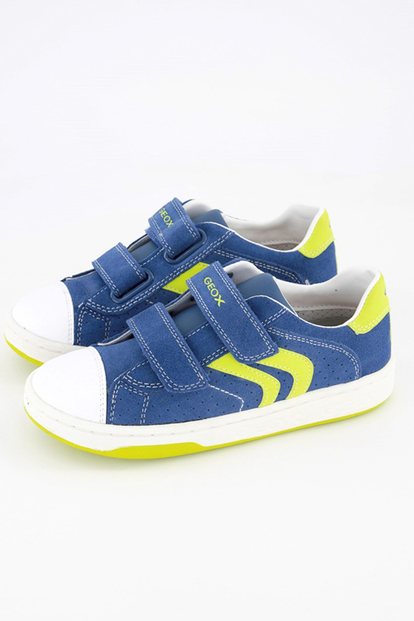 Boy's 'Mania 9' Suede Sneaker, Blue/Lime Green