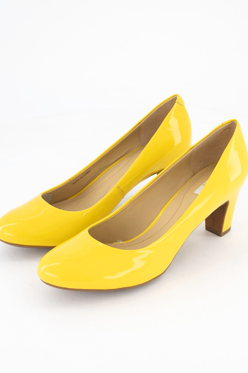 Women's D Marielle Mid Pumps, Yellow