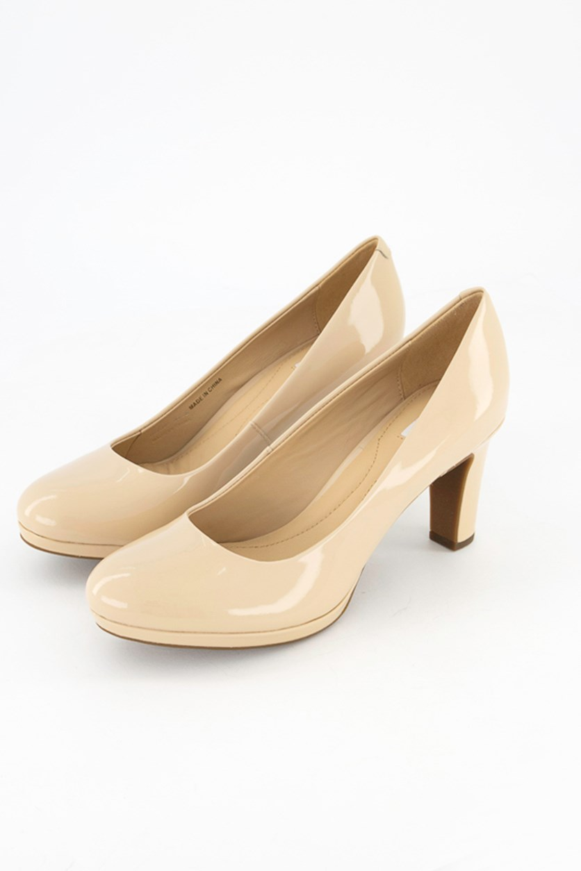 Women's Pattent Leather Pumps, Skin