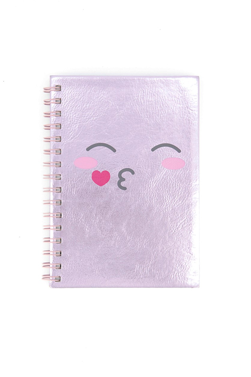 Cute Pink Spiral Notebook, Pink