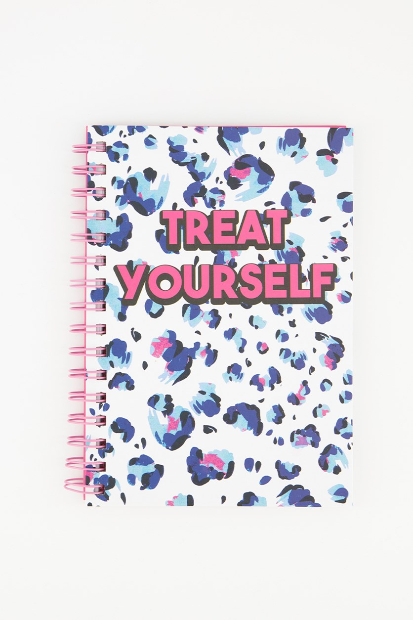 Treat Yourself Spring Notebook, White/Pink