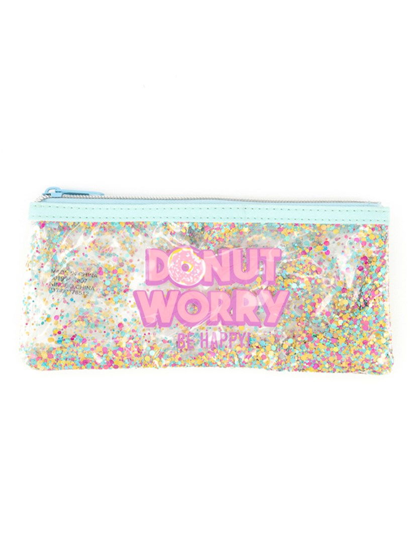 Donut Worry Pouch Bag, Blue/Pink