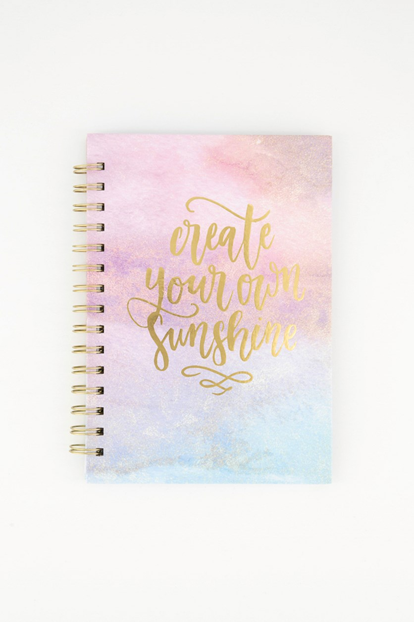 Create Your Own Sunshine Daily Planner Notebook, Pink Combo