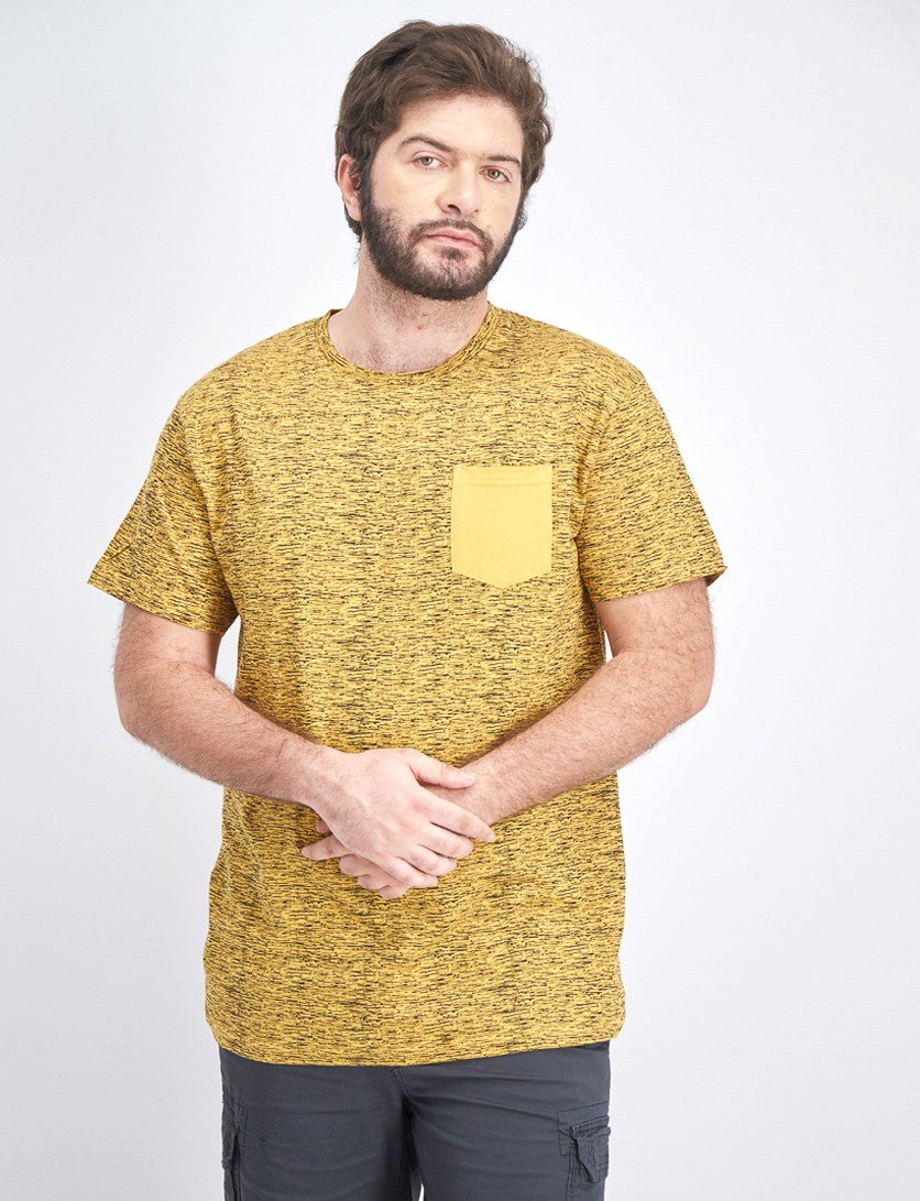 Men's Short Sleeve Pocket Shirt, Mustard