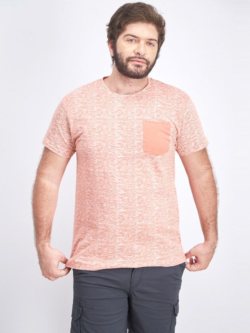 Men's Short Sleeve Pocket Shirt, Rose