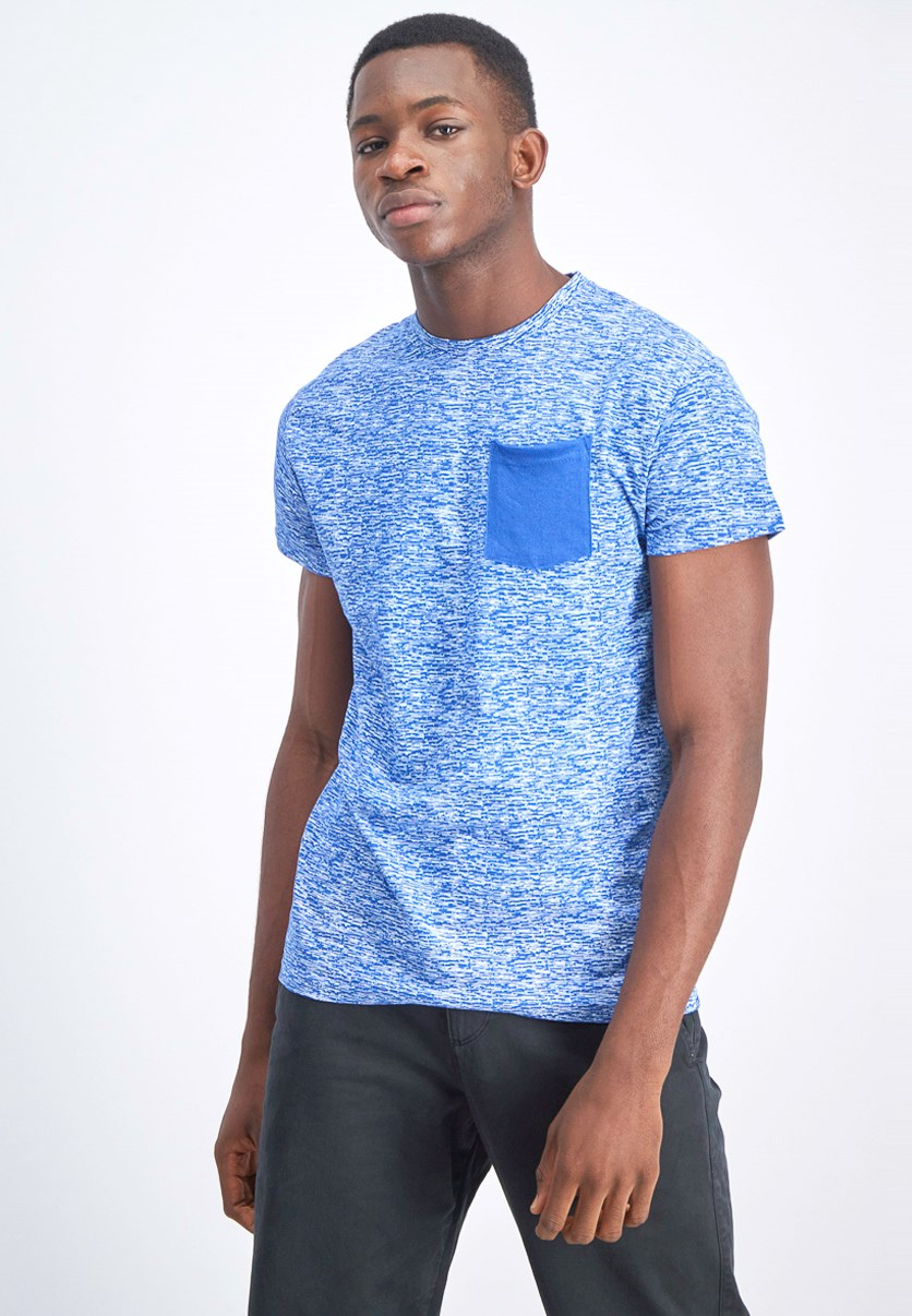 Men's Solid Pocket Tee, Royal Blue