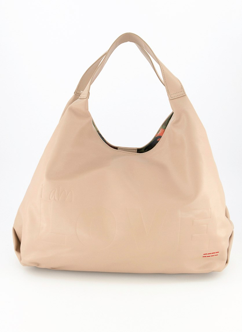 Women's Slouchy Tote Bag, Taupe