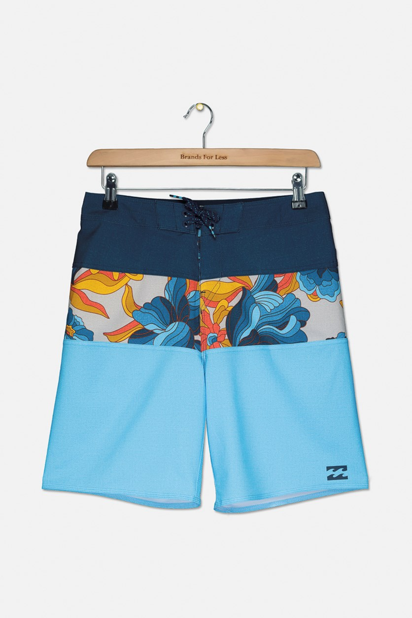 Boys' Big Tribong X Boardshort, Aqua Combo
