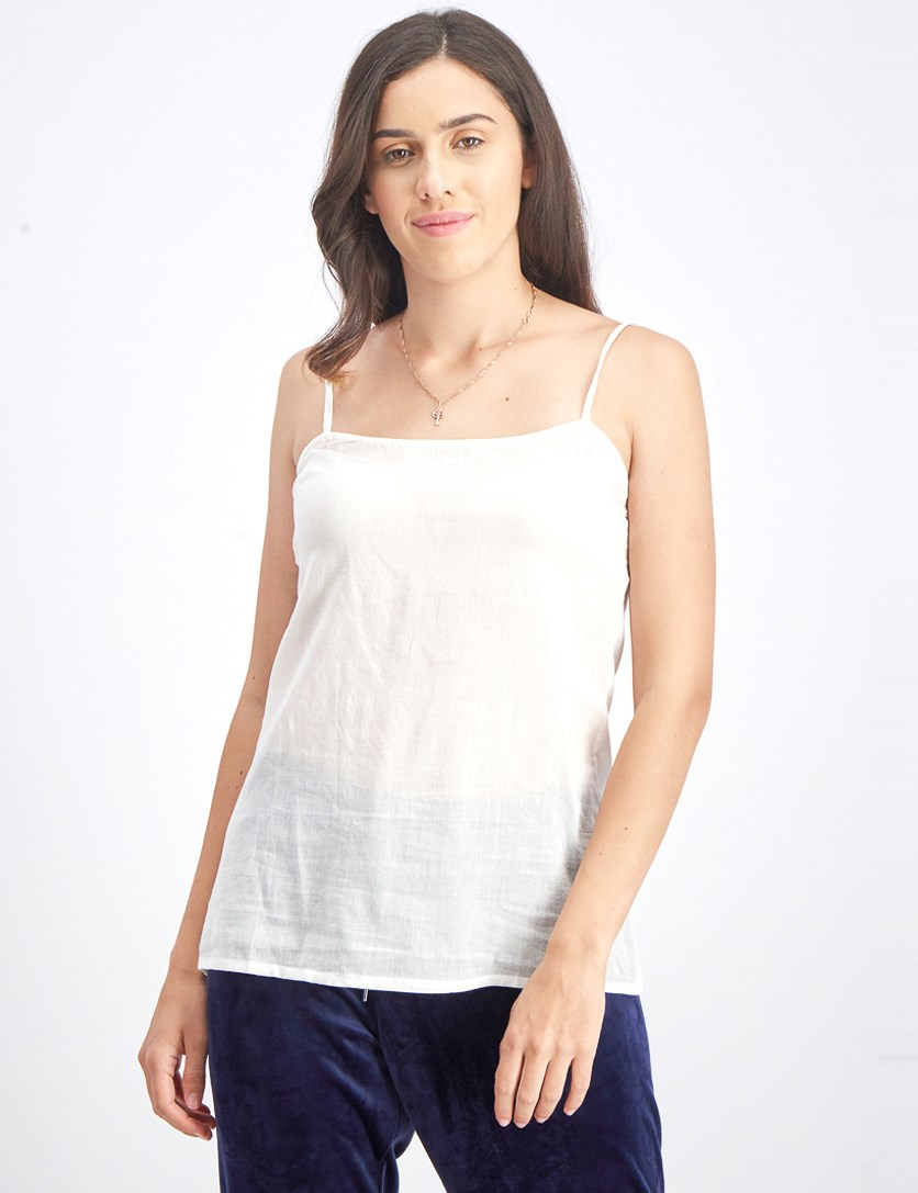Women's Plain Camisole, White